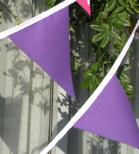 BUNTING Plain Purple - 3m/10ft or 5m/16ft